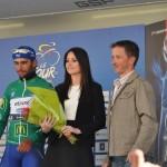 Remise du maillot vert par Pierre Miklic